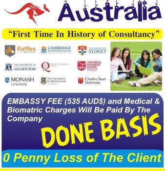 Australia Consultancy Done basis