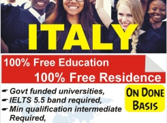 Italy Education with Scholarship